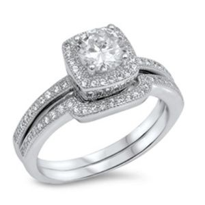 925 sterling silver engagement wedding ring 3